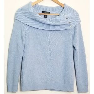 White House Black Market small blue sweater